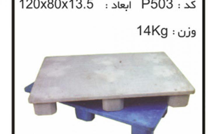 کارگاه تولید پالت های پلاستیکی کد P503